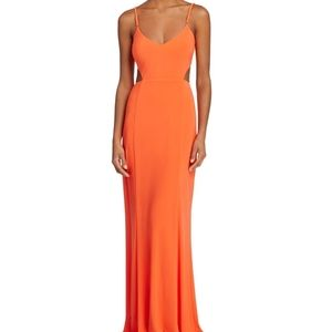 NWT Laundry by Shelli Segal Side/Back Cut Out Gown